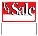"Hy-Ko Prod 24201 ""For Sale"" Sign, 26 x 16-In."