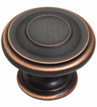 Brainerd Mfg Co/Liberty Hdw P22669C-VBC-U1 Cabinet Knob, Harmon, Bronze & Copper, 1-3/8-In., 10 Pk.