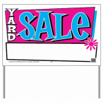 "Hy-Ko Prod 24203 ""Yard Sale"" Sign, 26 x 16-In."