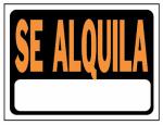Hy-Ko Prod 3103 8.5x12 Se Alquila Sign