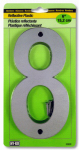 "Hy-Ko Prod 30808 Address Number, Reflective Plastic, 6-In., ""8"""