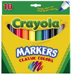Crayola 58-7722 10-count Broad Tip Coloring Markers