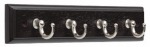 Brainerd Mfg Co/Liberty Hdw 139631 Key Rail, 4-Hook, Black & Nickel, 1.5 x 9.75 x 4.5-In.