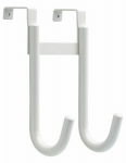 Brainerd Mfg Co/Liberty Hdw 139613 Over-The-Door Double Hook, White Zinc, 4 x 5.75 x 9.75-In.