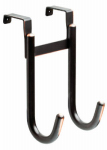 Brainerd Mfg Co/Liberty Hdw 139615 Over-The-Door Double Hook, Bronze Finish, 4 x 5.75 x 9.75-In.