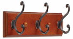Brainerd Mfg Co/Liberty Hdw 139635 Hook Rail, 3 Scroll Hooks, Bronze & Copper, 3 x 11.75 x 5.5-In.