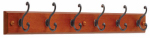 Brainerd Mfg Co/Liberty Hdw 139641 Hook Rail, 6 Scroll Hooks, Carmel & Bronze, 2.2 x 28.6 x 5.5-In.
