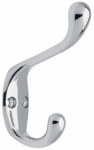 Brainerd Mfg Co/Liberty Hdw 145886 Coat & Hat Hook, Polished Chrome, 1 x 3.75 x 6.5-In.