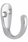 Brainerd Mfg Co/Liberty Hdw 145890 Robe Hook, Single Prong, Polished Chrome, 2-Pk.