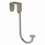 Brainerd Mfg Co/Liberty Hdw BBF430C-SN-U Over-The-Door Clothes Hook, Satin Nickel & Ceramic, 5.75 x .7 x 7.2-In.
