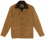 Williamson Dickie Mfg TC280RBDLG Insulated Coat, Brown Rinse Sanded Duck, Men's Large