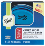 Jarden Home Brands 1440030020 Canning Lids & Bands, Blue