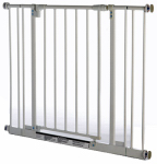North State Ind 4991 Pet Gate, White Metal, 28 to 38.5 x 29-In.