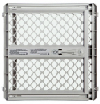 North State Ind 8625 Pet Gate, Light Gray Plastic, 26 to 42 x 26-In.