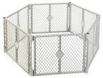 North State Ind 8668 Pet Yard, Light Gray Plastic, 6-Panel, 18.5-Sq. Ft. x 26-In.