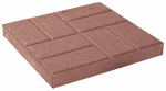 Oldcastle 10050370 Landscape Stepping Stone, Embossed Red Concrete, 16 x 16-In.