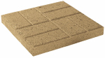 Oldcastle 10050380 16x16 Tan Emboss Stone