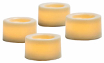 Northern International CG10290WH4 Flameless Candle, Mini Votive, White, .75-In., 4-Pk.