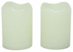 Sterno Home CG10288CR06 Flameless Candle, Rustic Votive, Cream Wax With Vanilla Scent, 2.5-In., 2-Pk.