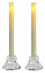 Sterno Home CGT13109CR2 Flameless Candle, Taper, Cream Wax, 9-In.  2pk