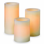 Northern International CGT25667CR301 Flameless Candle, Pillar, Cream Wax With Vanilla Scent, 3-Pk.