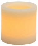 Northern International CGT42164CR01 Flameless Candle, Rustic Pillar, Cream Wax With Vanilla Scent, 4 x 4-In.