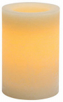 Sterno Home CGT42166CR01 Flameless Candle, Rustic Pillar, Cream Wax With Vanilla Scent, 4 x 6-In.