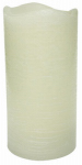 Sterno Home CGT55600CR06 Flameless Candle, Rustic Pillar, Cream Wax With Vanilla Scent, 6-In.