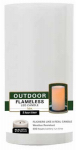 Northern International CGT20304WH Flameless Candle, Pillar, White Weather-Resistant Plastic, 3 x 4-In.