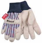 Kinco International 1927KW-Y Work Gloves, Lined, Leather Palm, Youth's