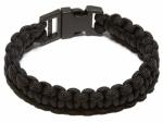 Wellington Cordage NPCB550BKL LG BLK Surviv Bracelet