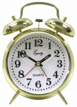 Geneva/Advance Clock 3191AT Keywound Twinbell Brass Alarm Clock