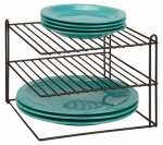 Honey Can Do Intl KCH-04369 Corner Shelf, Black Steel Wire, 10 x 7.5 x 10-In.