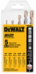 Dewalt Accessories DWA56015 Multi-Material Drill Bit Set, 5-Piece