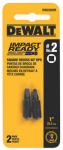 Dewalt Accessories DWA1SQ2IR 2PK Imp #2 Square Bit Tip