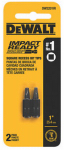 Dewalt Accessories DWA1SQ1IR Screwdriver Bit, Impact Ready, #1 Square, 1-In., 2-Pk.