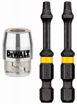 Dewalt Accessories DWA2SQ2IR2S 2PK Square #2 Bit/Sleeve