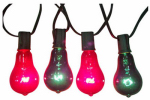 Noma/Inliten-Import V10007 Christmas Lights Replacement Bulb, Edison Style, Red & Green, 7-Watt, 2-Pk.
