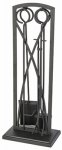 Panacea Products 15093 Fireplace Tool Set, Gothic Black, 5-Pc.