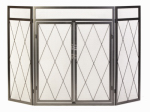 Panacea Products 15195 Fireplace Screen, Diamond Design, Antique Iron Steel, 32 x 50-In.