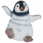Border Concepts 83341 Garden Figurine, Playful Penguin, Polyresin, 5.75-In.
