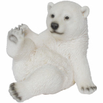 Border Concepts 83475 Lawn Ornament, Playful Polar Bear, Polyresin, 7-In.