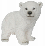 Border Concepts 83472 Garden Figurine, Playful Polar Bear, Polyresin, 10.75-In.