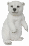 Border Concepts 83479 Garden Figurine, Dancing Polar Bear, Polyresin, 7.5-In.