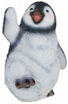 Border Concepts 83483 Garden Figurine, Playful Penguin, Polyresin, 11-In.