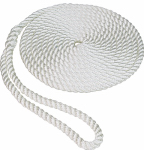 Unified Marine 50013001 Twisted Nylon Dockline, White, 3/8-In. x 20-Ft.