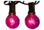 Sienna 126G6N11 Halloween Globe Light Set, Transparent Purple, 10-Ct.