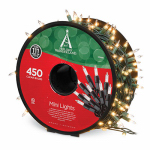 Noma/Inliten-Import 48350-88 Christmas Light Set, Mini, Clear, 450-Ct.