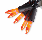 Sienna 16656012 Halloween Candy Corn Mini Light Set, Orange/Purple, 50-Ct.