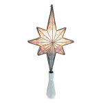 Noma/Inliten-Import V49338-88 Christmas Tree Top Star, Silver Metal, Lighted